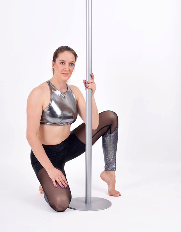 boomkats polewear leggings long black iridesc net 4