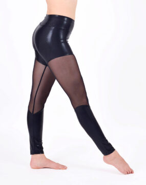 boomkats polewear leggings long black net 2