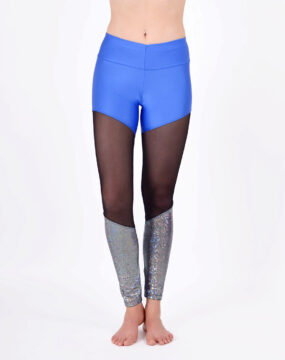 boomkats polewear leggings long blue net 1