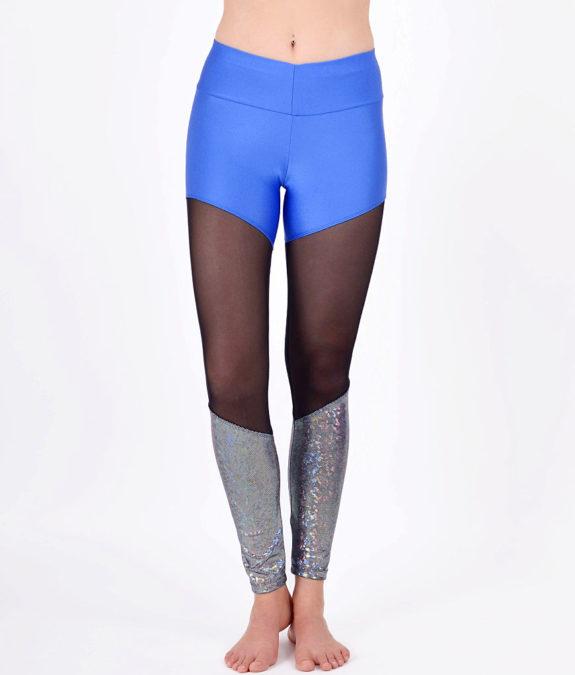 boomkats polewear leggings long blue net 1