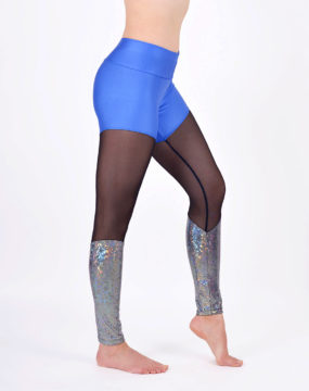 boomkats polewear leggings long blue net 2