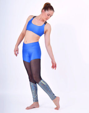 boomkats polewear leggings long blue net 4