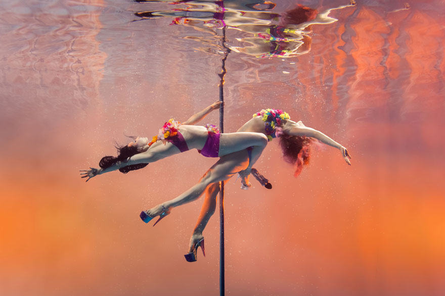 underwater pole dancing Brett Stanley photography boomkats polewear4