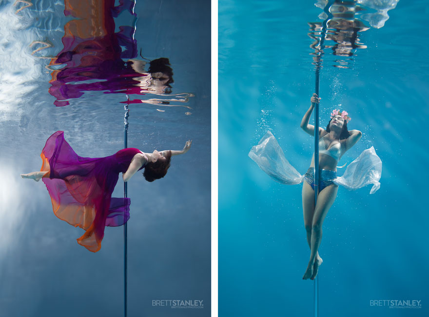 underwater pole dancing Brett Stanley photography boomkats polewear5