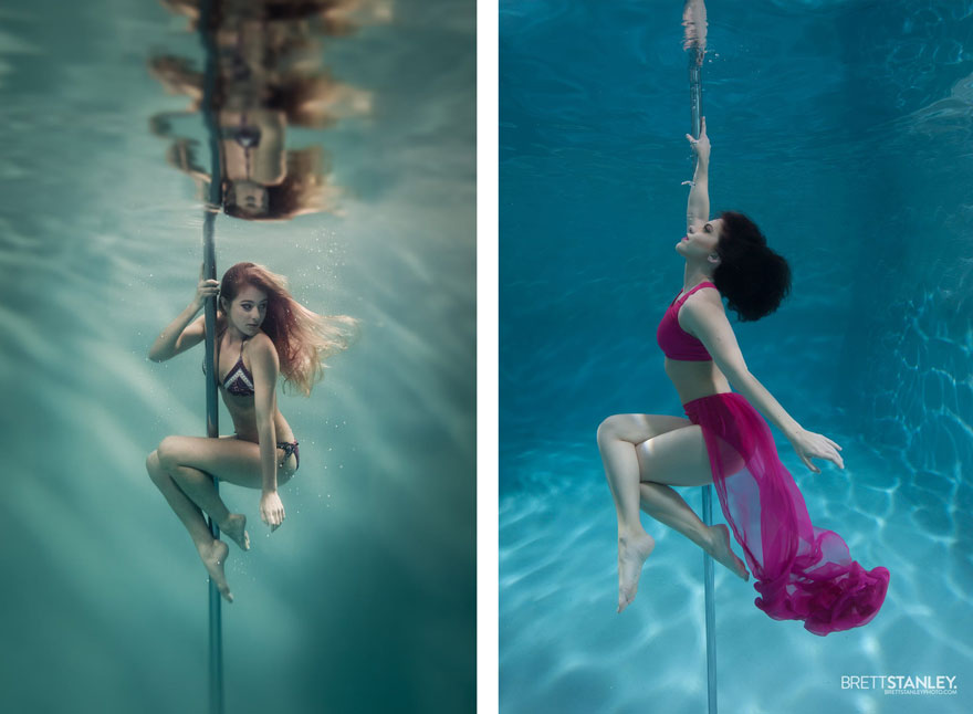 underwater pole dancing Brett Stanley photography boomkats polewear8