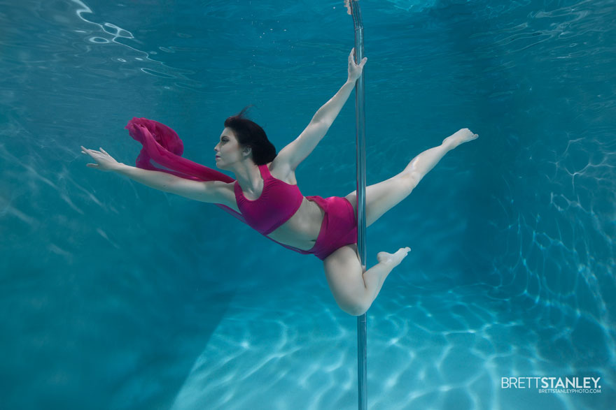 Underwater pole dance boomkats pole wear Brett Web3