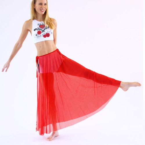 boomkats pole dance skirt red