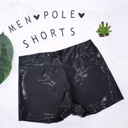 men pole dance shorts boomkats black
