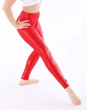 boomkats long leggings shiny red 3