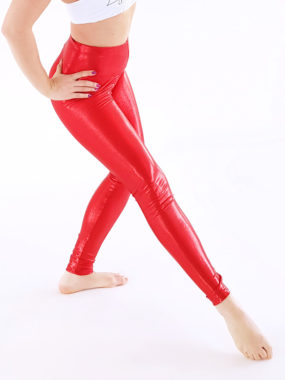 boomkats long leggings shiny red 3
