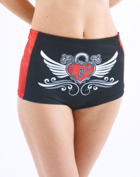 boomkats pole dance shorts martini red line 1