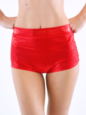 boomkats pole dance shorts martini shiny red 1