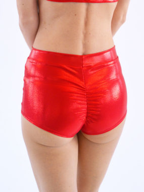boomkats pole dance shorts martini shiny red 2