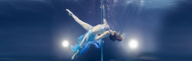 underwater pole dance