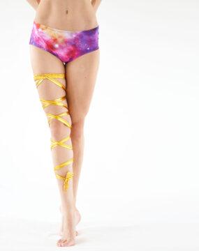 boomkats pole dance accessories leg wrap golden 3