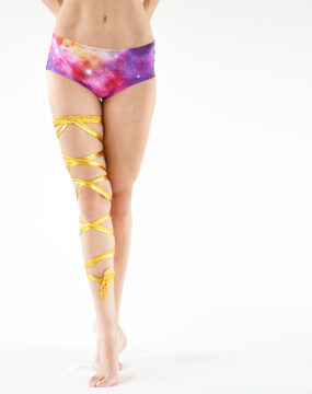 boomkats pole dance accessories leg wrap golden 3