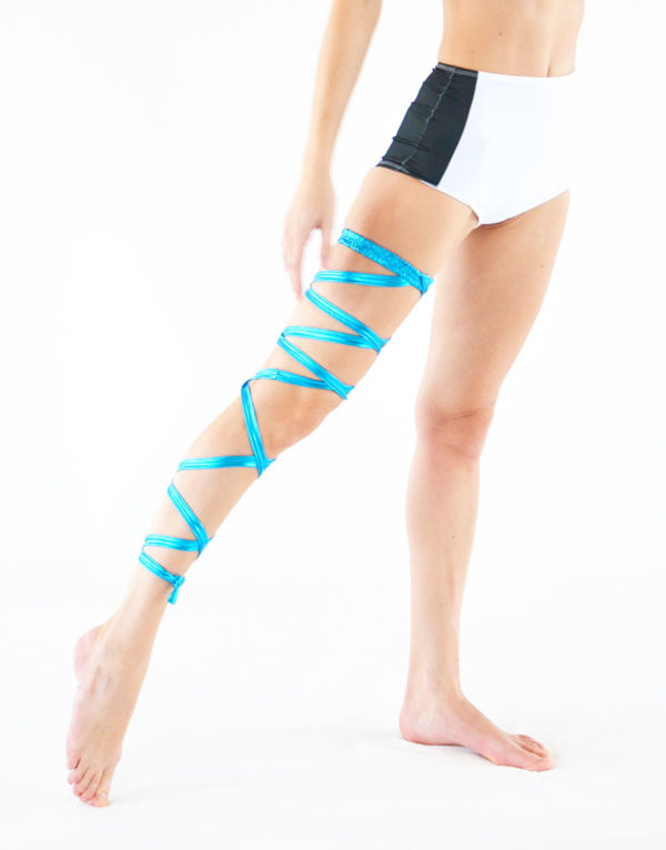 boomkats pole dance accessories leg wrap blue 1