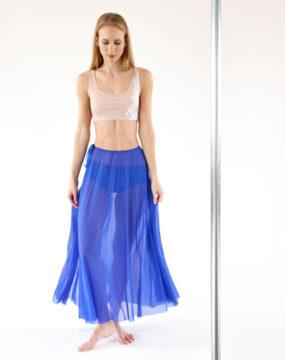 boomkats pole dance skirt long blue 2