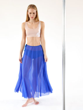 boomkats pole dance skirt long blue 2