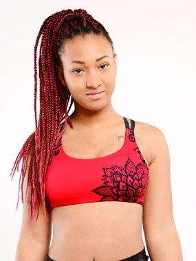 pole dance top boomkats clothes cherry red lace black