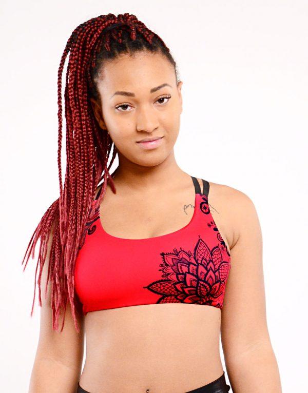 pole dance top boomkats clothes cherry red lace black