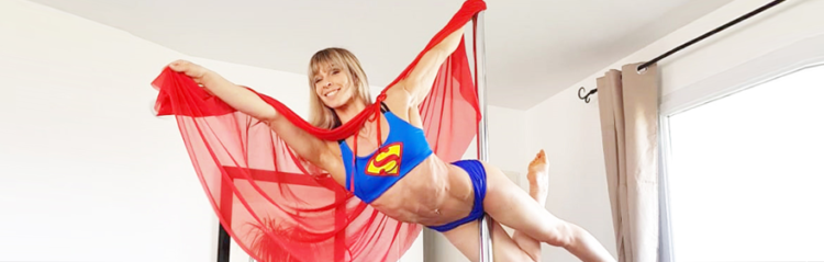 boomkats superman pole dance move