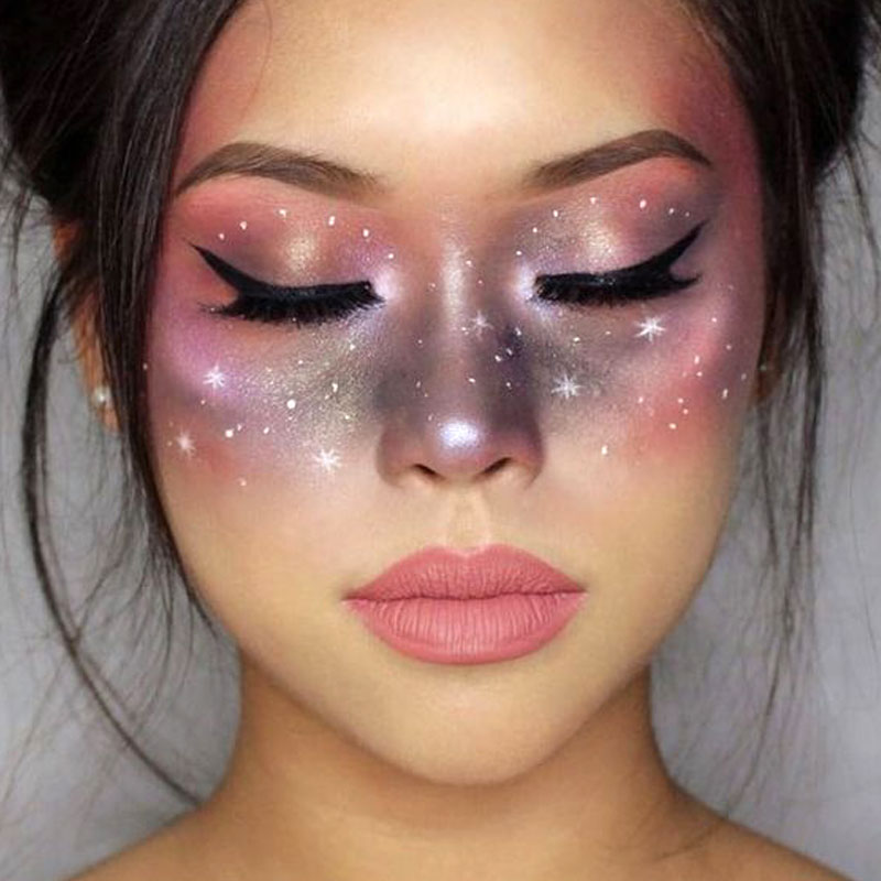 Halloween Costume and Makeup Ideas boomkats galaxy unicorn make up
