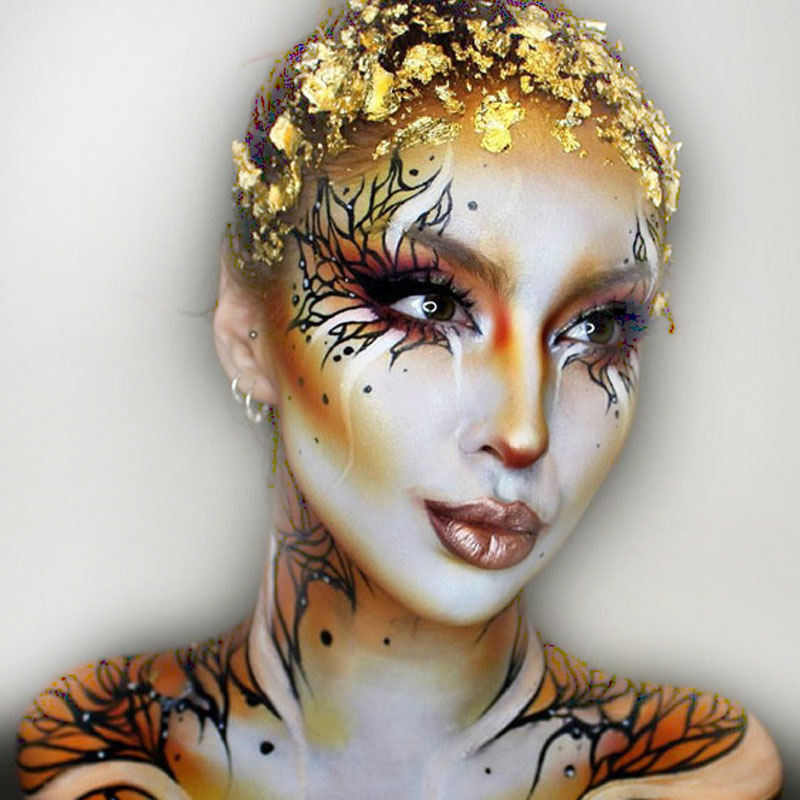 Halloween Costume and Makeup Ideas boomkats golden makeup