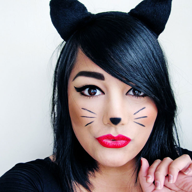 Halloween Costume and Makeup Ideas boomkats meow makeup