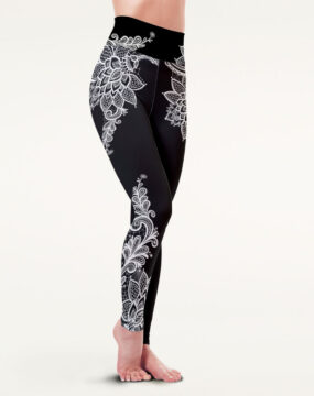 boomkats polewear long leggings black lace