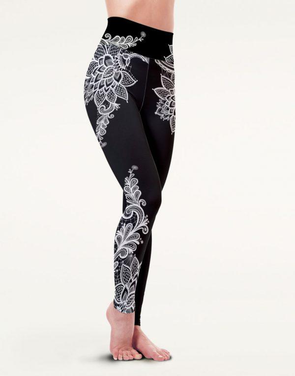 boomkats polewear long leggings black lace